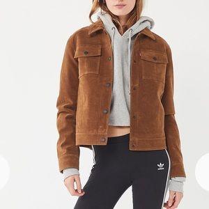 Levi's faux suede trucker jacket M